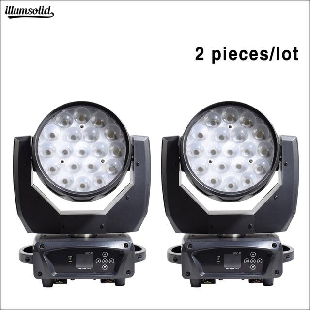 19x15W Zoom Washing Moving Head Disco Light Dmx Led Beam Party Lights For Dj Nightclub Stage Lighting Effect  2pcs/Lot