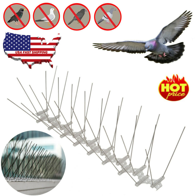 1-12M Hot Selling Plastic Bird And Pigeon Spikes Anti Bird Anti Pigeon Spike Pest Control Bird Repellent Garden Supplies