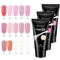 Gel de extensión UV para uñas, 15 colores, 30ml, pintura artística para uñas, TSLM1