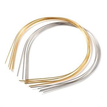 10pcs Gold 1.5mm width Metal Hair Band Base Hair Hoop Settings Diy Girl Beading Headband Accessories For Jewelry Making Findings hl 15mm width 2 meters 5 meters leopard elastic band diy garment accessories for making headband