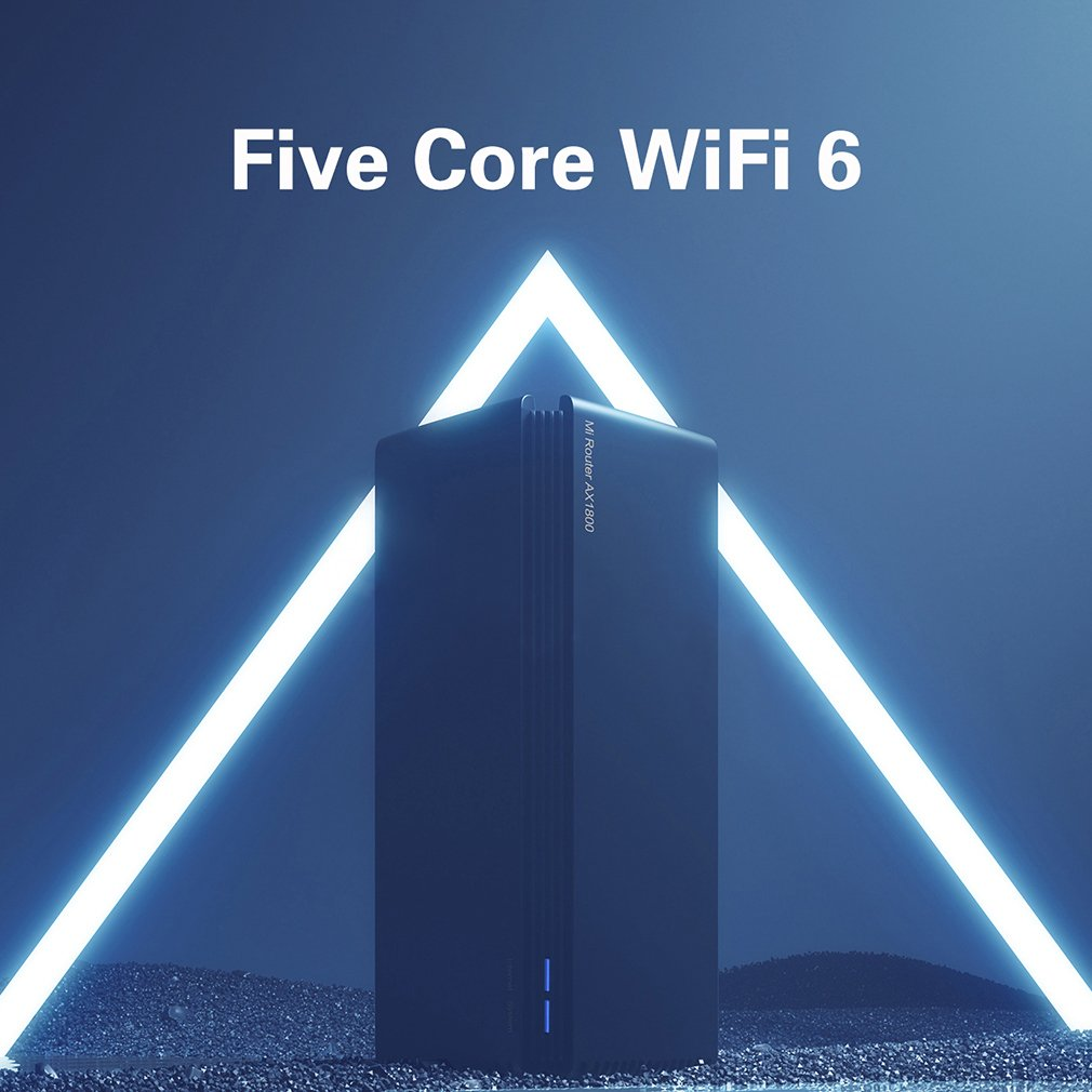 New product Xiaomi router AX1800 Qualcomm five-core wifi6 24G 50 GHz full gigabit 5G dual-frequency home wall-penetrating king