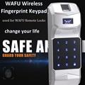 WAFU беспроводная панель дверного замка для отпечатка пальца пароль управление Лер 315 МГц для дистанционного управления WAFU смарт-дверь LockWF-018/...