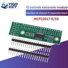 MCP23017 I2C интерфейс 16 бит ввода/вывода расширение модуль расширения, штыревая панель плата IIC к GIPO преобразователь 25mA1 блок питания привода для...