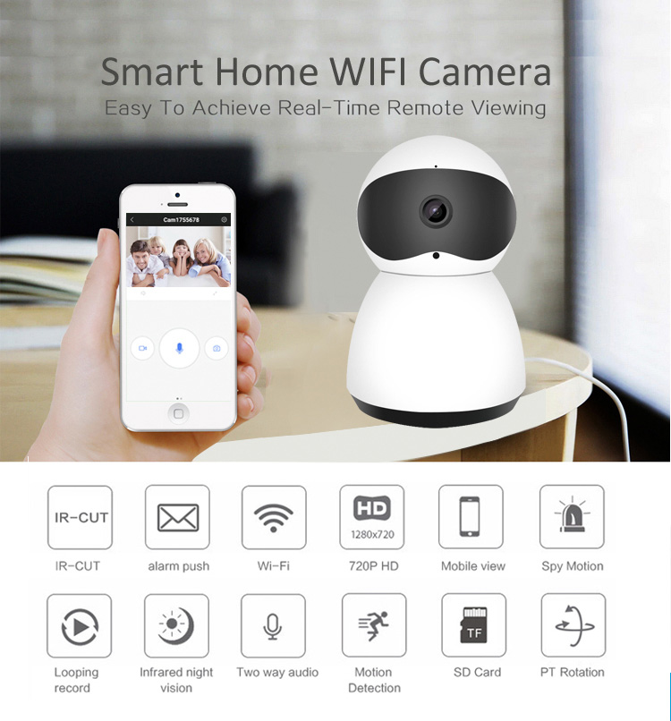 JPT New Style Smart Home Security Wireless Mini Camera Clear Night Vision Baby Camera CCTV Wireless Camera|Surveillance Cameras| |  - title=