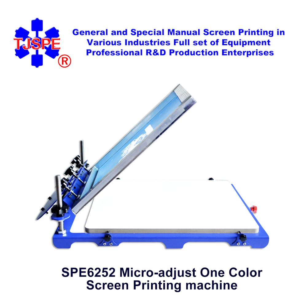 SPE6252 Macchina per serigrafia Mirco dimensioni pallet 62 * 52 cm macchina per serigrafia monocolore
