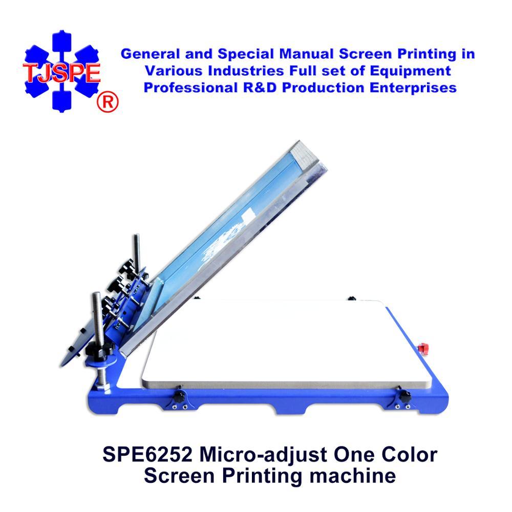 SPE6252 Mirco Screen Press pallstorlek 62 * 52 cm enfärgad tryckmaskin