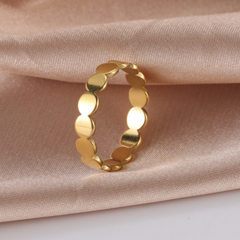 COOLTIME Minimalist Stainless Steel Women's Ring Disc Wedding Couple Rings Party Fashion Jewelry Engagement Ring  Wholesale