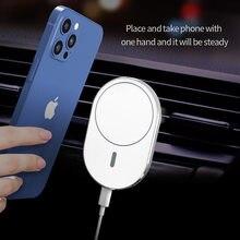 Para o iphone 12/pro/pro max/mini 15w magsafing carregador sem fio magnético telefone titular do carro airvent ímã adsorbable montagem do carro