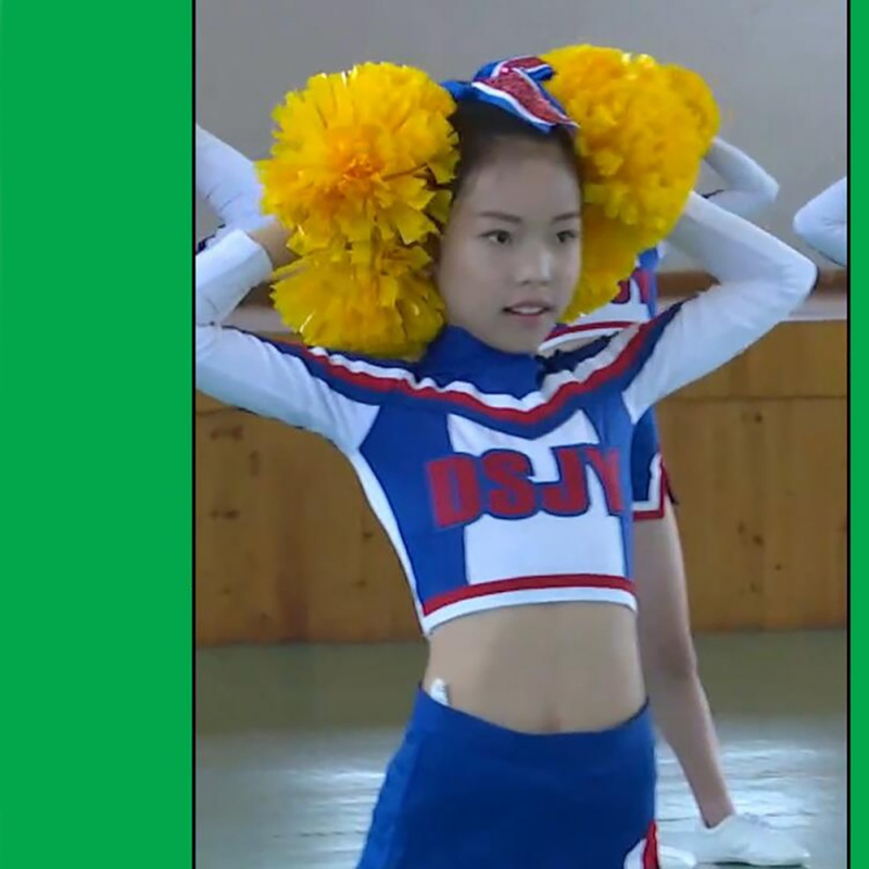 Kids' Cheerleader Clothes Children's Lara Jersey Students' Aerobics Dance Clothing Girls Performance Clothes