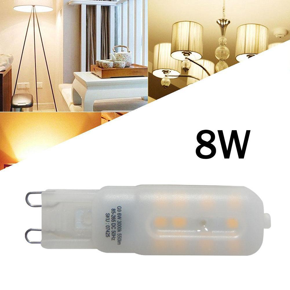 1pcs G9 Led Bulb Light 550 Lm Dimmable Bulb Smd 2835 Home Replace Spotlight Lighting 8w Corn For Chandelier Lamp C6Q0