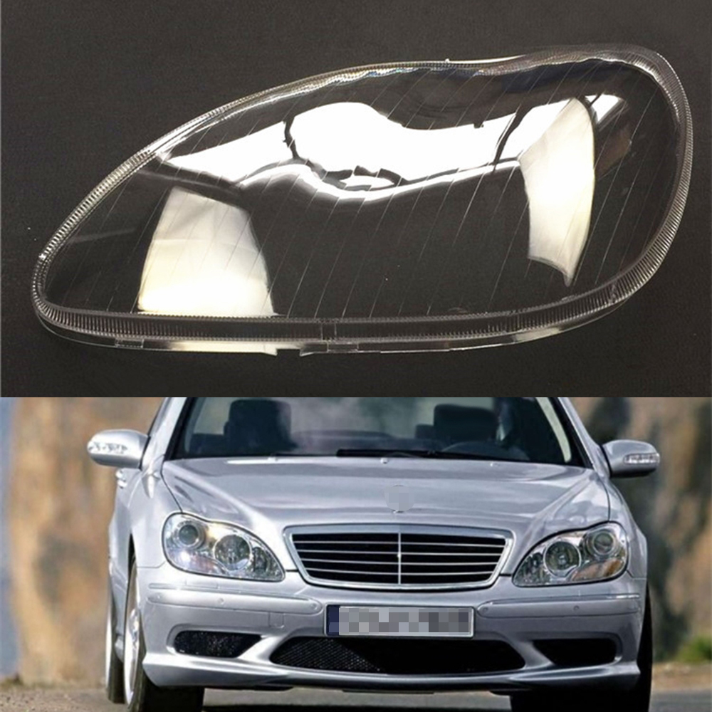 Headlight Lens For Mercedes-Benz W220 S600 S500 S320 S350 S280 Car Headlight Headlamp Clear Lens Auto Shell Cover 1998~2005