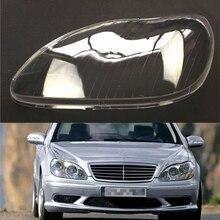 Lentes de farol para carro mercedes benz w220 s600 s500 s320 s350 s280 proteção transparente para farol automotivo 1998 ~ 2005