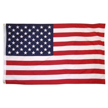 US Flag Double Sided Polyester American Flying Hanging Flag Cloth Decor Striped Stars USA Flags 150x90cm недорого