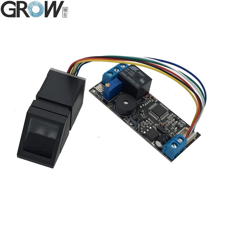 GROW K202+R307 DC12V Low Power Consumption Fingerprint Recognition Access Control System+R307 Optical Fingerprint Sensor|Fingerprint Recognition Device| |  - title=