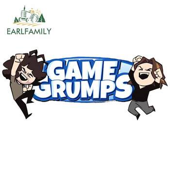 EARLFAMILY 13cm x 5.9cm For Game Grumps Body for Car Stickers Repair Decal Car Accessories Personality Creative Decoration image