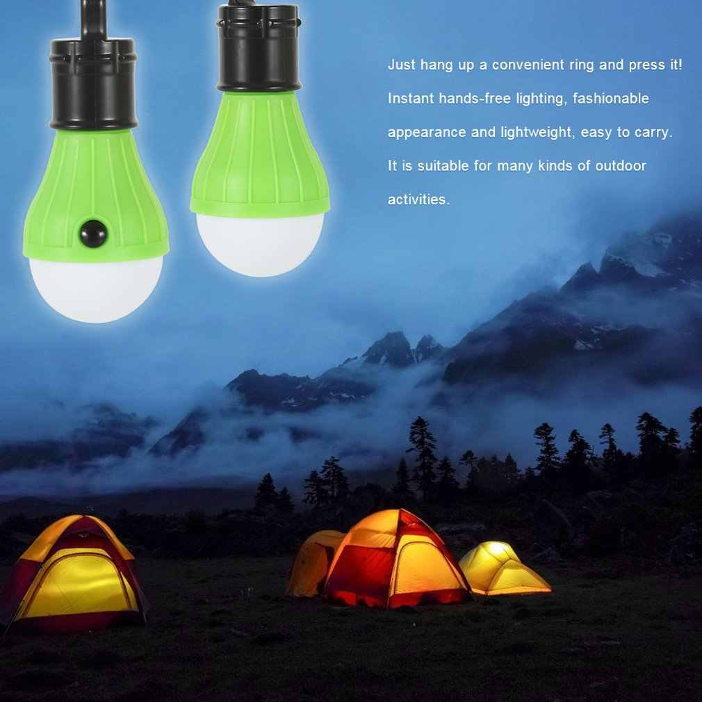 1 Pc Zacht Licht Outdoor Opknoping Led Camping Tent Lamp Vissen Lantaarn Lamp Groothandel Drop Shipping