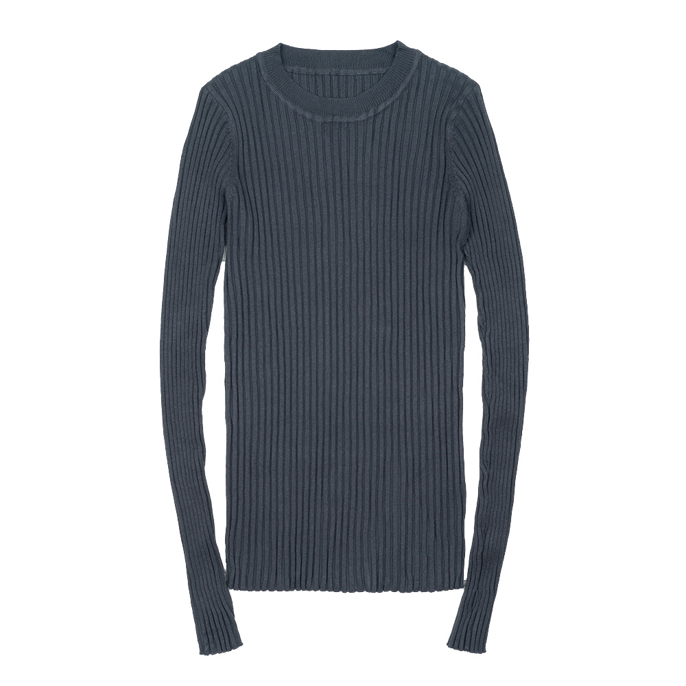 Ultimate SaleSweater Pullover Crew Thumb-Hole Rib-Knitted Long-Sleeve Basic Cotton Women Neck-Essential-Jumper