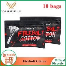 NEW Electronic cigarette Cotton Vapefly Firebolt Cotton Vape Cotton for RDA RTA Coil Wick vaporizer Pre loaded organic Cotton