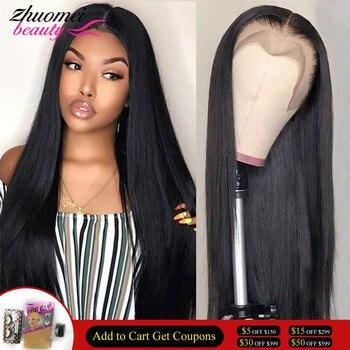360 парик на сетке спереди, предварительно выщипанные прямые парики из человеческих волос, цветные безклеевые парики из человеческих волос д...