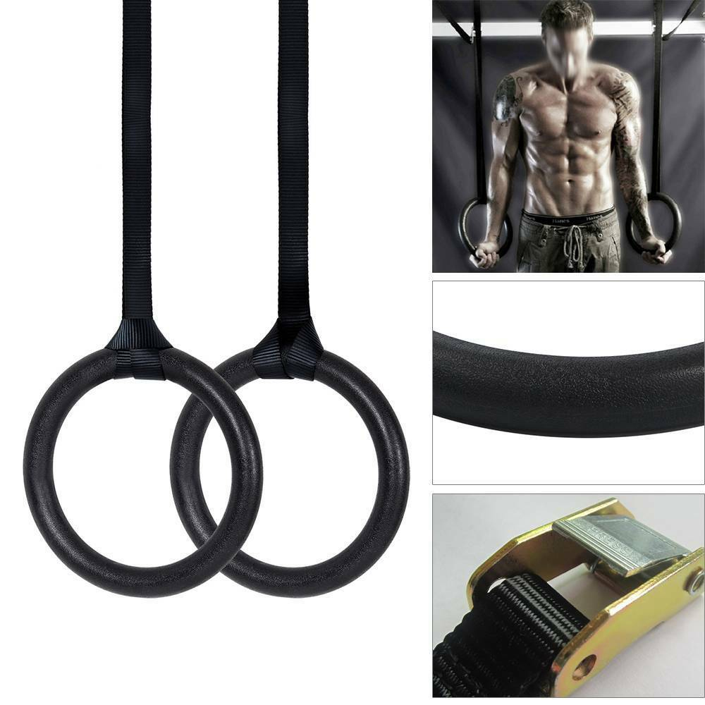 SFIT 2PC/4PC 1SET Birch Wooden 28mm/32mm Exercise Fitness Gymnastic Rings Gym Sports Fitness Equipment Pull Ups Muscle Ups
