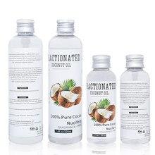 100% puro óleo essencial de coco natural massagem spa imprensa fria hidratante orgânico cuidados com a pele óleo cuidados com o cabelo ajuda relaxamento sono