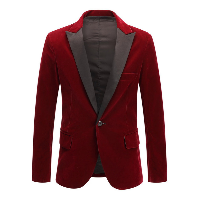 2020 New Shiny Men Blazer Jacket Vintage Velvet Suit Jacket Wedding Party Suit Jacket Groom Costume Stage Blazer Terno Masculino