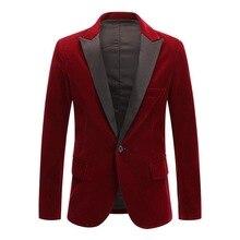 2020 nuevo Blazer brillante para hombre, chaqueta de terciopelo Vintage, chaqueta de fiesta de boda, chaqueta de traje de novio, chaqueta de escenario, Terno Masculino