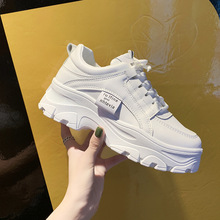 Luxury Shoes Women Designers Flat Platform Shoes Fashion Sneakers Internal Increase Lace-Up Solid Casual Ladies Shoes Non-slip casual increased internal and lace up design athletic shoes for women