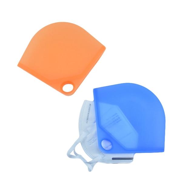 1pcs Portable Food-grade Silicone N95 Mask Storage Clip Case Face Masks Container Flexibility Storage Organizer