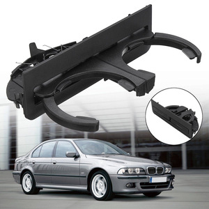 Image 2 - Car Rear Cup Holder Bracket Dual Hole Plastic Center Console Cup Holder Replacement Auto Accessories For BMW E39 1997 2003