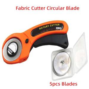 Leather Craft 45mm Rotary Cutter Leather Cutting Tool Fabric Cutter Circular Blade DIY Patchwork Sewing Cut With Blades