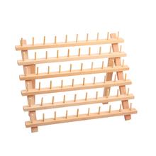 Składany stojak na nici uchwyt na drewno 60 szpulowy drewniany stojak do przechowywania tanie tanio CN (pochodzenie) Przędzy Przechowywania Drewna Wooden Thread Rack Regały magazynowe