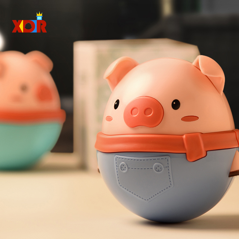 Baby Toys Cartoon Animals Cute Piggy Teether Tumbler Doll Balance Bath Toy Bab Toy Comfort Baby For 6 Month Baby