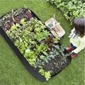Ткань поднятая посадочная кровать садовые мешки для выращивания Высококачественная трава цветы растительные растения кровать прямоуголь...
