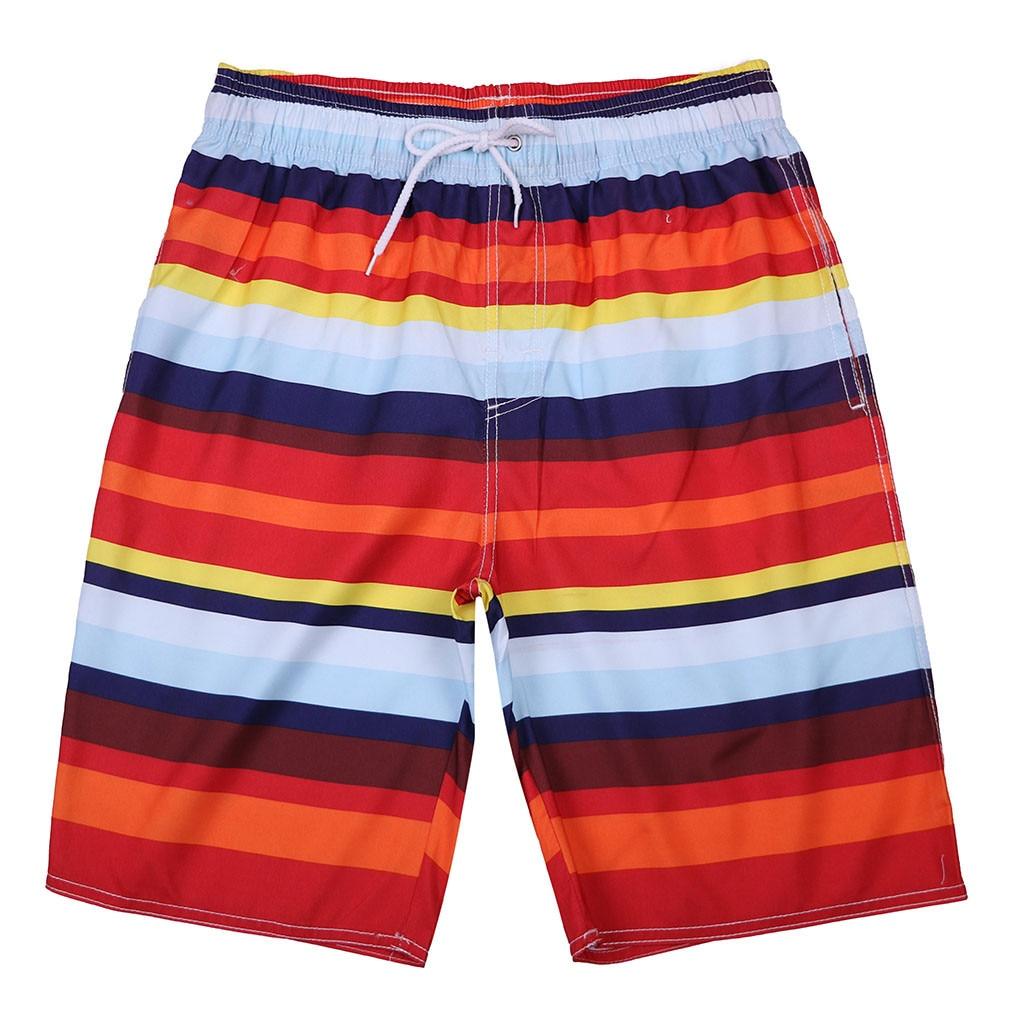 Tyugvvo Penguins Funny Swim Trunks Summer Beach Shorts Pockets Boardshorts for Men with Mesh Lining