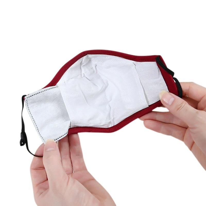 1pcs Cotton Anti-fog And Breathing Valve Pm2.5 Mask Winter Cotton Korean Black Three-dimensional Filter Mask