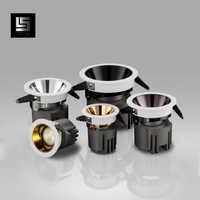 Led downlight 7w 9w 15w Gold/Chrom/Rose Gold/Kaffee/Schwarz Einbau led spot Beleuchtung foyer küche innen beleuchtung led decke