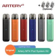 Artery-Kit de iniciación para cigarrillo electrónico MT4 Pod, vaporizador de vapeo con luz LED, batería de 480mAh, Cartucho pod de 2ml