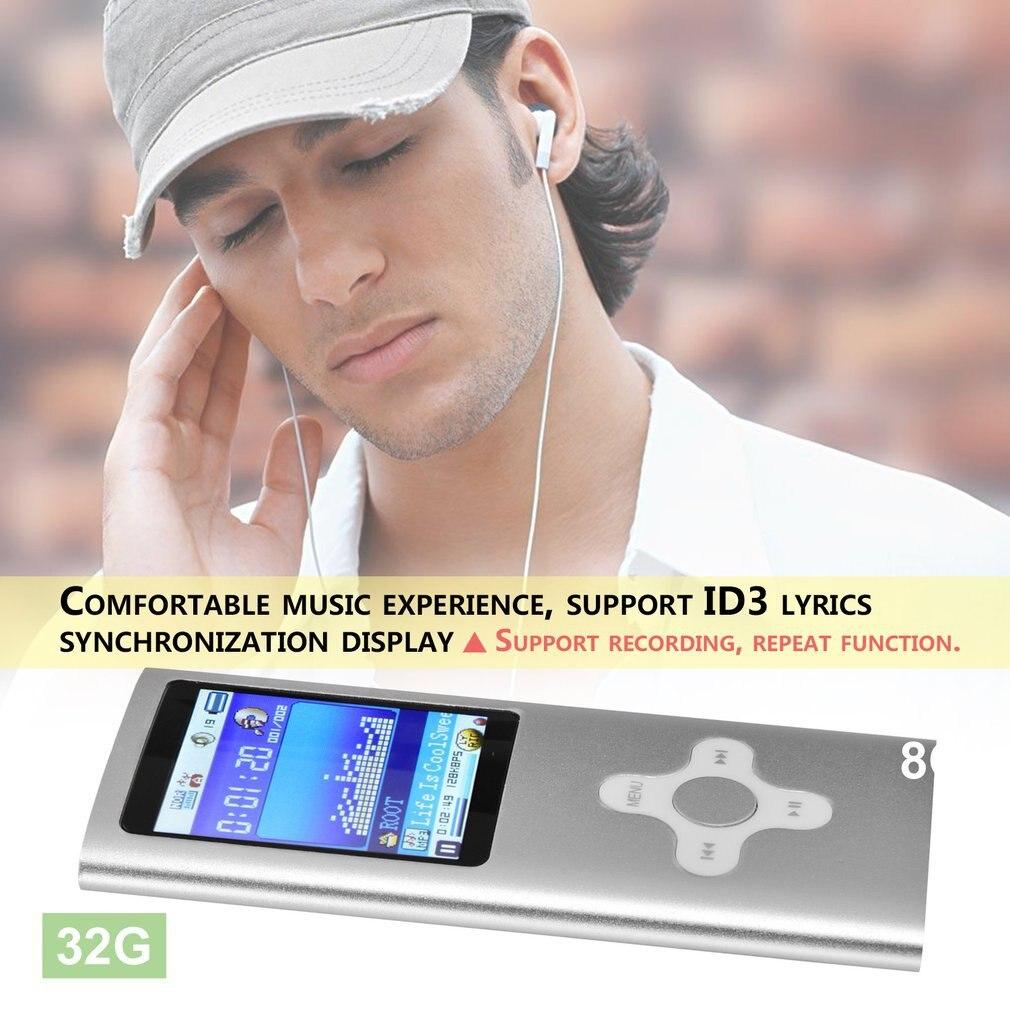 MP3-плеер 1,8 дюймов экран 32 Гб 128 М металлический музыкальный плеер Портативный видео Raido fm-плеер аудио mp3 fm-радио, чтение электронных книг