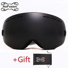 Brand snowboard goggles double layers UV400 anti-fog big vision skiing mask glasses motocross women&men snow snowmobile goggle