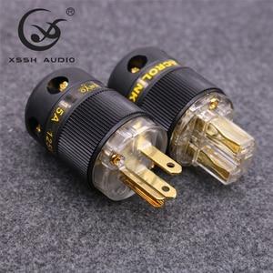 Image 3 - XSSH FP 15 i FC 15 Hi End HIFI czysta miedziowanie złoto złącze elektryczne 18mm AC kobieta mężczyzna moc US wtyczka gniazdo IEC