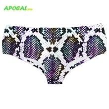 APOCAL Sexy Snake Print Milk silk Womens Panties Leopard 3D Vivid Female Underwear Women Bikini Breifs Funny
