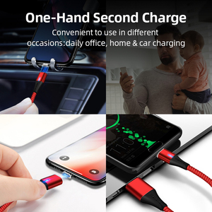 Image 5 - SUNPHG Mobile Phone 3A Magnetic Cable Charger 2m Micro USB Fast Charging Type C Data Cable for iPhone Lightning xs xr Samsung S9