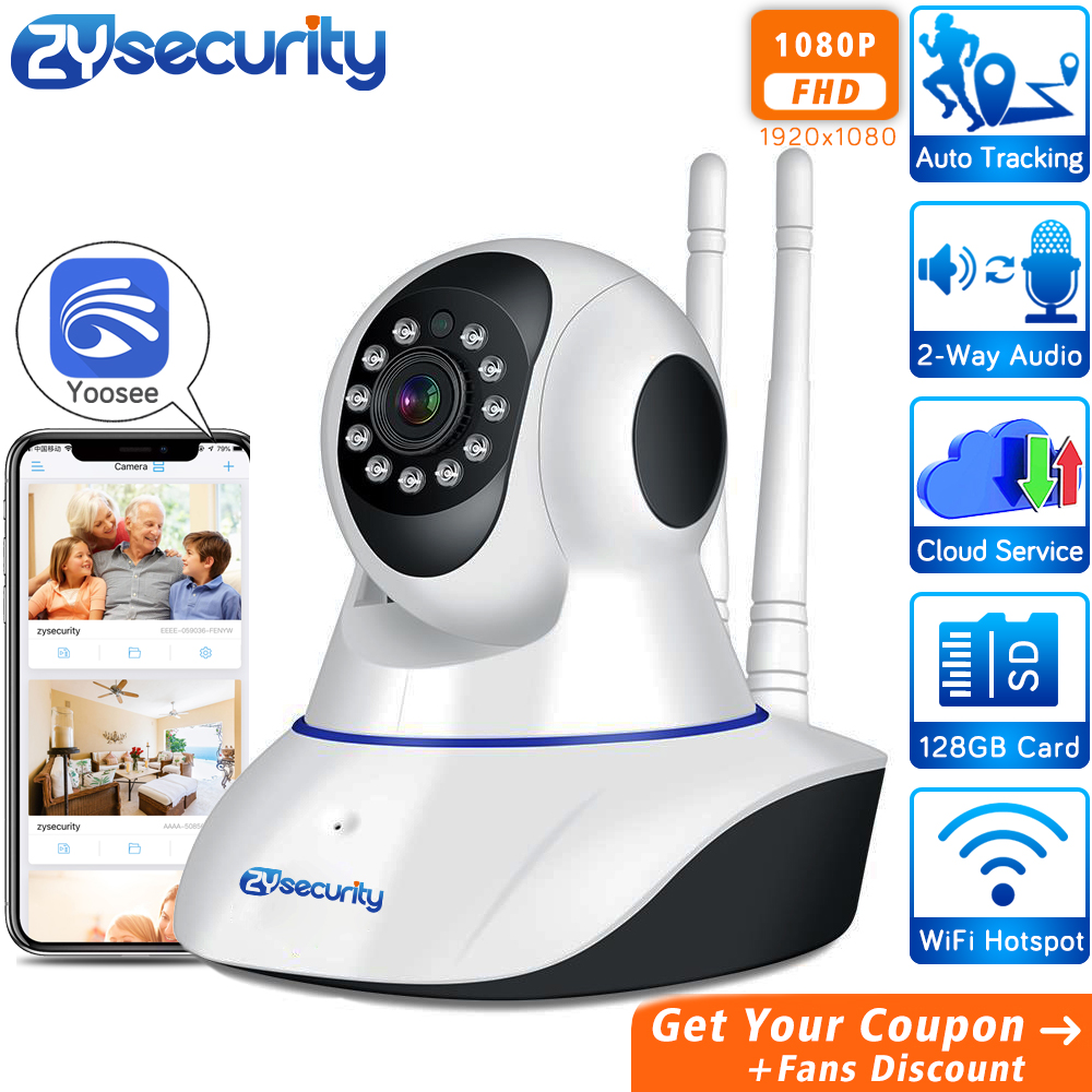 1080p Wireless Home Security WiFi IP Camera Yoosee Auto Tracking Cloud SD Card Two Way Audio CCTV Surveillance Security Camera