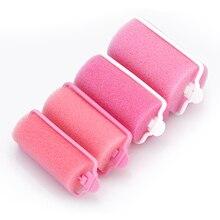 Hairdressing-Tool-Kit Foam-Cushion Hair-Rollers Salon Diy-Curls Soft-Sponge Pink 12pcs/Set