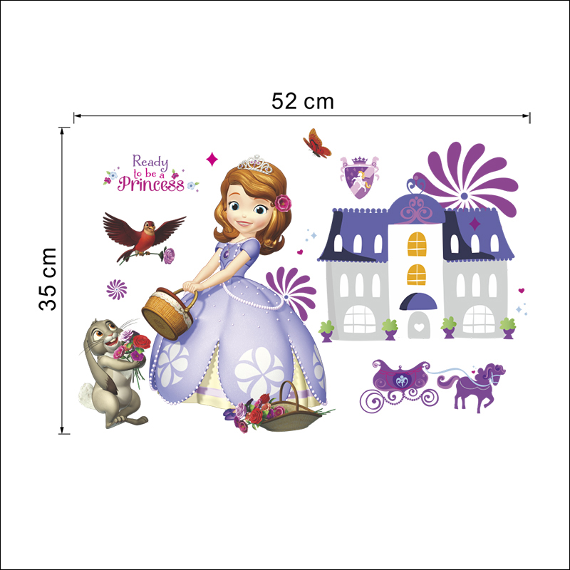 Wallpaper mural for Girl/'s bedroom Sofia Disney Princess purple photo wall art
