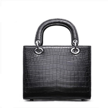 ouluoer 2019 new Nile crocodile belly lady bag black real leather European and American designer women handbags