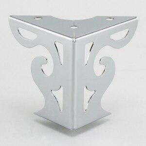 4 Stuks Hardware Metalen Meubelen Benen Hollow Sofa Voet Patroon Zwart Voor Tv Kast Benen Ondersteuning Meubels Hoekbeschermers Metalen
