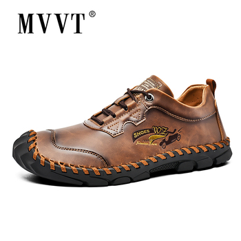 woodtree 39 45 new fashion mens shoes outdoor men loafers walking shoes black men casual shoes men leather shoes for men flats Fashion Men Casual Leather Shoes Quality Split Leather Men Shoes Loafers Flats Outdoor Moccasins Shoes Man Plus Size