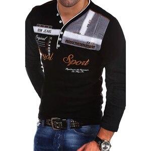 Image 5 - Zogaa Polo de manga larga para hombre, camisetas de algodón con estampado Slim Fit, polos informales de secado rápido 4XL, novedad de verano de 2019